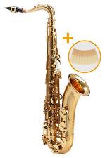 Tenor Saxophon Sax Saxofon Leichtkoffer Mundstück Blättchen lackiert Set Blätter
