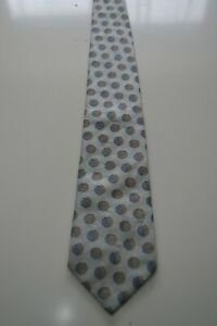 Aquascutum light blue silk necktie with polka dot pattern