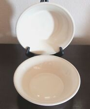 Sonoma (Life Style) Mendocino Oatmeal Coupe Soup Bowls x2 Thick Rimmed Cream