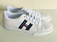 NEW! TOMMY HILFIGER LARRIA WHITE LEATHER SNEAKERS SHOES 7 37 SALE