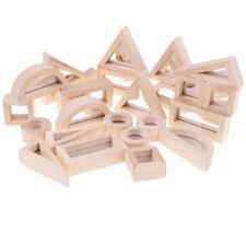 Wooden Mirror Blocks Construction Building Toy Set Stacking Blocks 24-piece