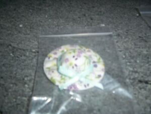 Dolls House Miniatures 1/12th scale lilac and green floral hat