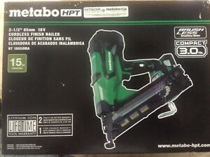Metabo HPT 2.5-in 18 volt Cordless Finish Nailer NT1865DMA