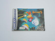 RAYMAN 3 manual only Nintendo Game Boy Advance GBA FRA / GER / HOL