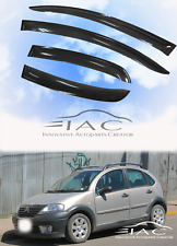 Citroen C3 5d 2002-2009 Window Visors Rain Guard Vent Deflector with Sliver LOGO