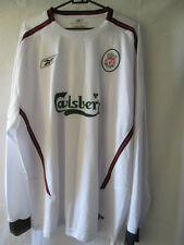 Liverpool 2003-2004 Away camiseta de fútbol Talla Xxl Manga Larga / 13856