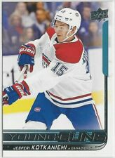 2018/19 JESPERI KOTKANIEMI UPPER DECK YOUNG GUNS ROOKIE CARD #249