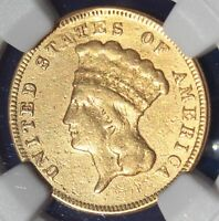 RARE 1871 $3 Gold Indian Princess Coin NGC VF Details only 1300 minted!!!