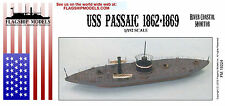 FLAGSHIP MODELS 1/192 Scale USS Passaic Monitor Class (12.5 Inches Long)
