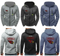 Arizona Cardinals Football Hoodie Zipper Sweatshirt Hooded Jacket Coat Fit Slim