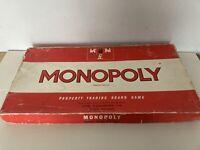 Vintage Monopoly Board Game Original Waddington's 1967 Incomplete