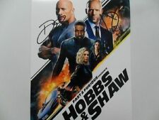 "Dwayne Johnson, Jason Statham ""Fast Furious "" 8x10 Signed Photo Auto"