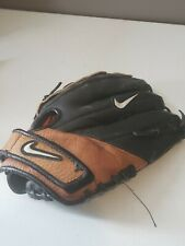 "Nike Athena Fastpitch Glove 12.5"" Black Brown Left Thrower LHT Leather EUC"