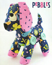 PEBBLES DOG - Sewing Craft PATTERN - Cloth Rag Doll Puppy