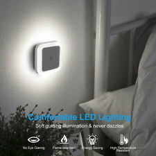 2 4 Pcs Plug-in Auto Sensor LED Night Light Lamp with Auto Sensor Photocell