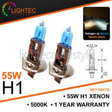 H1 55W XENON SUPER WHITE BULBS MAIN BEAM 12V HALOGEN UPGRADE LIGHT 5000K PORS