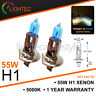 H1 55W XENON SUPER WHITE BULBS MAIN BEAM 12V HALOGEN UPGRADE LIGHT 5000K PORS