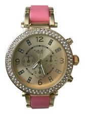 Ladies Watch Montres Carlo MC42826 Pink and Gold Band, Women's Dress Watch
