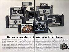 "VTG 1970 (5) Polaroid Cameras Colorpack Swinger 350 Land Photo Print ADS 6x10"""
