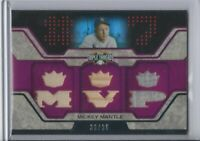 2008 Topps Mickey Mantle Triple Threads MVP Jersey Pants Bat Relic Card  /36