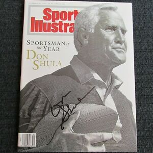 Don Shula, Dec. 20, 1993 Sports Illustrated Autographed magazine, Dolphins, Nice