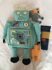 Joules Robert The Robot Fabric wash Bag With 200ml Shower Gel & 100g Soap New