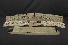 6x Wwii Us Army Military Surplus Field Gear M1923 M1 Garand Ammo Cartrige Belts