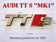 AUDI TT TTS 8N MK1 POSTERIORE TTRS S RS Stemma Badge Logo Emblema Fregio NUOVO