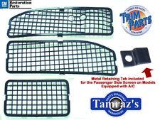68-72 Chevy Pontiac A Body Cowl Panel Grille 3 Screens w A/C USA Made Trim Parts