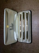 More details for parker 51 insignia / signet 12k rolled gold fountain pen , pencil & ballpoint !