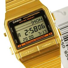 CASIO MEN'S GOLD TONE CLASSIC STYLE DATA BANK WRIST WATCH DB380G-1