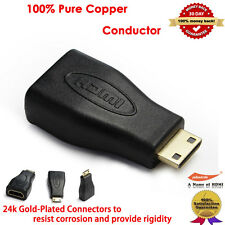 YellowKnife Gold Plated HDMI to HDMI Mini Adapter