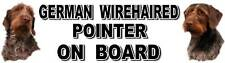 GERMAN WIREHAIRED POINTER ON BOARD Sticker by Starprint