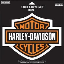 HARLEY DAVIDSON ORANGE BAR SHIELD DECAL LARGE DECAL