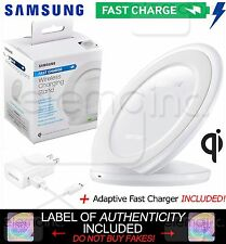 Samsung Wireless Fast Charge Qi STAND Pad for Galaxy S6 S7 edge iPhone X 8 WHITE