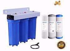 Triple Caravan Boat RV Camp Van  Water Filter System Max Chemical Removal