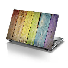 "TaylorHe 15.6"" Laptop Vinyl Skin Sticker Decal Colourful Wooden Planks 2173"