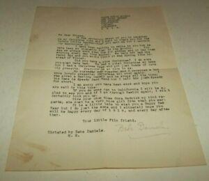 Vtg 1918 Movie Star Signed Letter - Bebe Daniels Silent Screen & Theatre Star