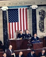 President John F. Kennedy delivers 1963 State of the Union Address 8x10 Photo