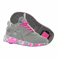 HEELYS FORCE HEELYS GREY PINK HEELYS FOR GIRLS TRAINERS SHOES SKATE SHOES SIZE 4