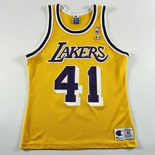 7ec7589a65d Rare Elden Campbell 40 Medium Champion Los Angeles Lakers Jersey