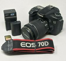 Canon EOS 70D 20.2 MP Digital SLR Camera With 18-55mm F3.5-5.6 IS STM