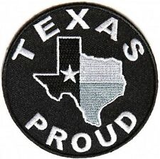 Texas Proud State Star Motorcycle Embroidered MC Club Biker Vest Patch PAT-3879