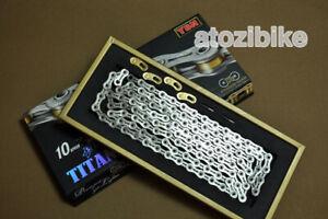 YBN Super Lightweight SLA-210 Titanium 10 Speed Bike Chain 210g - Silver