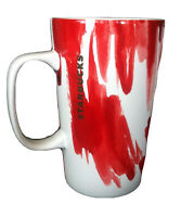 2014 Starbucks Gold Dot Red Watercolor 16 fl. oz.  Coffee Mug Cup COLLECTIBLE
