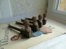 French 4 of vintage shutter stoppers solid authentic hardware