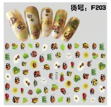 3D Cute Ladybug with Daisy Flower Nail Art Sticker Self Adhesive Decorations