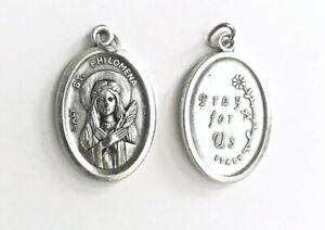 ST SAINT PHILOMENA MEDAL - Oxidised Metal / Pray For Us
