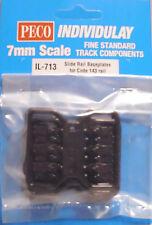 PECO IL-713  48 x Slide Rail Baseplates for 0 Gauge Code 143 Flat Bottom Rail 1s