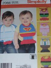 SIMPLICITY #2066 - CUTE INFANT ~ DESIGN YOUR OWN ~ BIB COSTUME PATTERN  OZ uc
